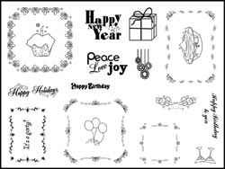 Stamping Scrapping Clear Stamps Celebrate SMS3025