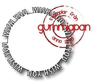 Gummiapan Stanzform Wish You Kreis / Wish You Cirkel D180843