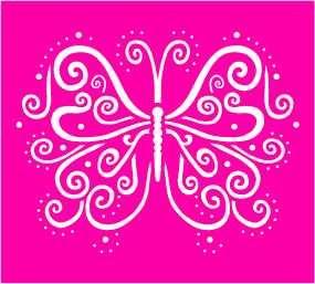 Nellie Snellen Metall-Prägeschablone Schmetterling LD005 ( pink )