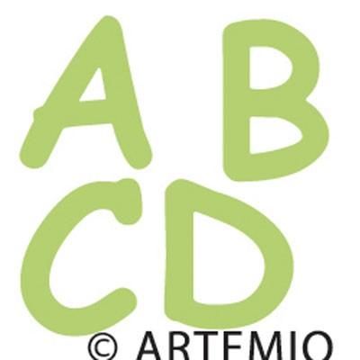 Artemio Happycut Stanzform 5,2 x 5,2 cm Buchstaben A bis D 1802006
