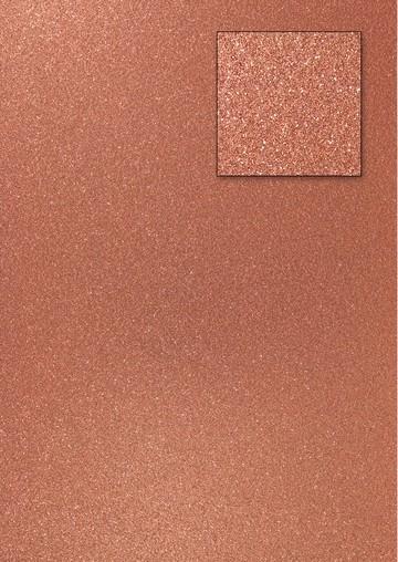 Glitterkarton DUNKELKUPFER A 4 653002/0640