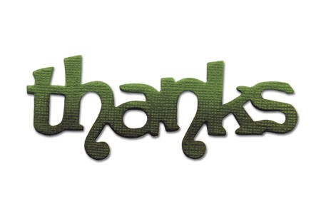 "Sizzix Stanzform Originals MEDIUM ""thanks "" phrase thanks 656574"