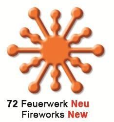 Motivstanzer mittel Feuerwerk ( orange ) UR 1948 00 72