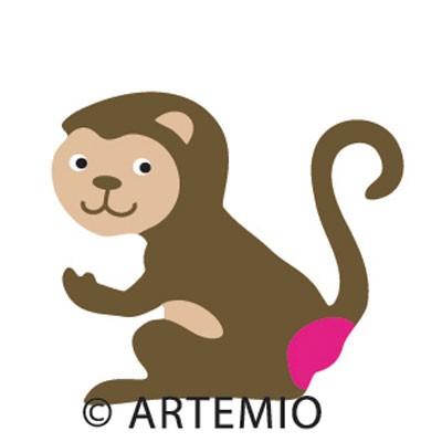 Artemio Happycut Stanzform 5,2 x 5,2 cm Affe / monkey # 4 18020022