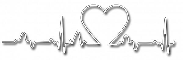 Frantic Stampers Stanzform Herzschlag mit Herz / Heart Heartbeat FRA-DIE-10201