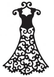 Die-Versions Stanzform Kleid / Slim Dress DVW-356