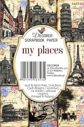 Decorer Paper Pack 7 cm x 10,8 cm MY PLACES 83574 / M63