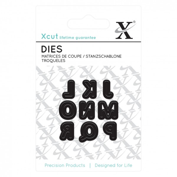 XCut Stanz-u. Prägeform Mini Alphabet Buchstaben J bis R XCU 503626