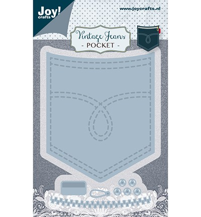 Joycrafts Stanzform Jeanstasche / Vintage Jeans Pocket 6002/1388
