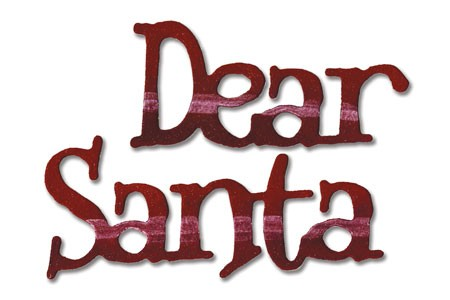 "Sizzlits small phrase "" Dear Santa "" 657 032"