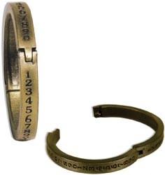 Metall-Ring antik-brass mit Zahlen zum Öffnen ( 1 Stück ) 12603