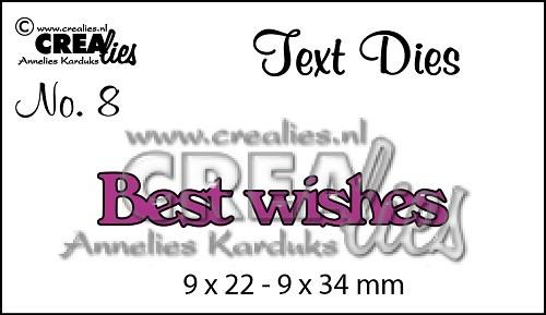 Crealies Stanzform Worte ' Best wishes ' CLTD08