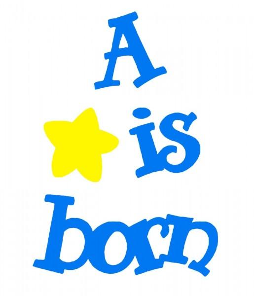 "Sizzix Sizzlits Stanzform MEDIUM Worte "" a Star is born "" / phrase a star is born"