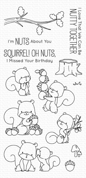 My Favorite Things Clearstempel-Set Eichhörnchen / Squirrel ! BB-75