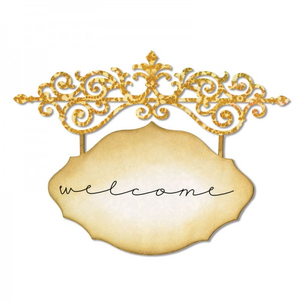 Sizzix Stanzform Thinlits Ornate Hanging Sign 658951 / 18738951