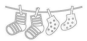Poppystamps Stanzform Babysocken / Baby Socks 1087