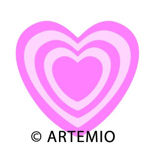 Artemio Happycut Stanzform 6,8 x 6,8 cm Herz # 3 / heart # 3 18022008
