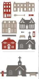 XCut Stanz-u. Prägeform Häuser / Houses Set XCU 503265