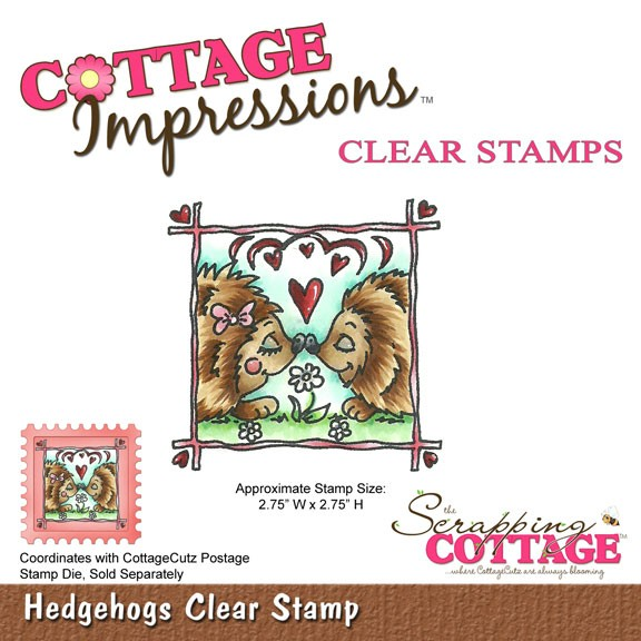 Cottage Cutz Clear Stamp Igel / Hedgehogs clear stamp SC CIC-01
