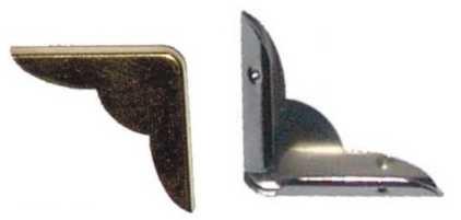 Metallecke LARGE GOLD rund 10570