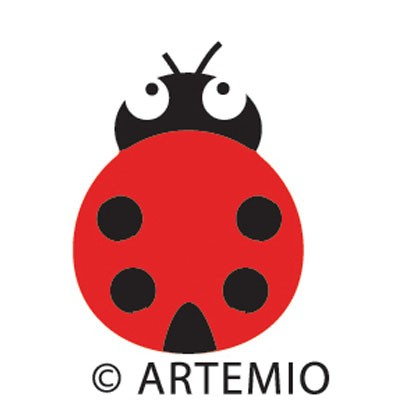 Artemio Happycut Stanzform 5,2 x 5,2 cm Marienkäfer / ladybug 18020021