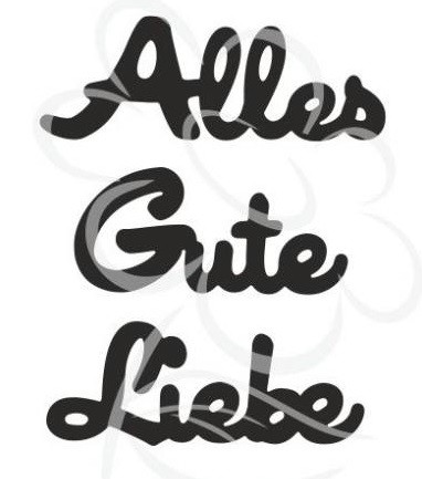 "Jm Creation Stanzform "" Alles Gute Liebe "" 03-00016"
