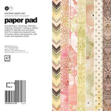 Paper Pad PORCELAIN 15,2 cm x 15,2 cm POR-1618