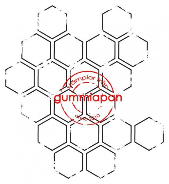 Gummiapan Stempelgummi Sechsecke / Liten sliten bikaka 12070206