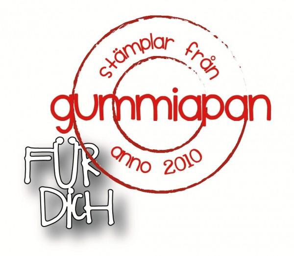 Gummiapan Stanzform ' Für Dich ' D190307