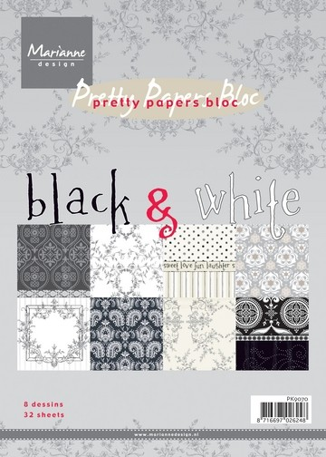 Marianne D Prestty Papers Bloc A 5 black & white PK9070