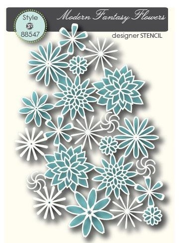Memory Box Stencil Fantasy Flowers 88547