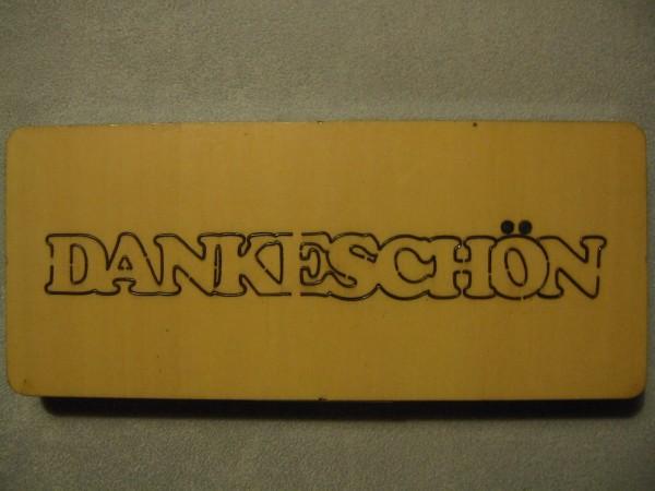 """Stanzform """" Dankeschön """" EIGENDESIGN"""