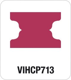 Motivstanzer Giant Mini File Tabs VIHCP713 ( rosa )