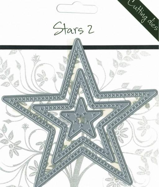 Romak Stanzform Sterne nestings mit Kreuzen Nr. 2 / Stars 2 817674
