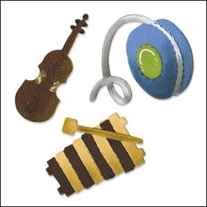 Allstar BIGZ Stanzform Geige , Xylophone & Yo-Yo / violin, xylophone & Yo-Yo A 10727