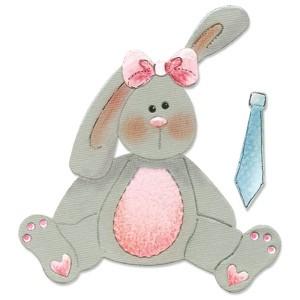 Sizzix Stanzform BIGZ Stoffhase / Bunny Stuffed 655339