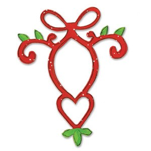 Sizzix Stanzform Originals LARGE Ornament mit Herz / ornament w/heart 655533