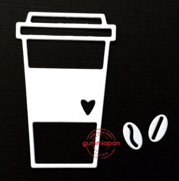 Gummiapan Stanzform Kaffeebecher / Kaffemugg D160425