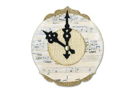 Sizzix Stanzform BIGZ Uhr mit Uhrenzeiger / Clock Ornate & Hands 656553
