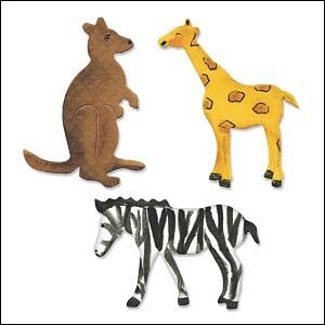 Allstar BIGZ Stanzform Giraffe,Känguruh u.Zebra / Giraffe, Kangaroo, Zebra A 10712