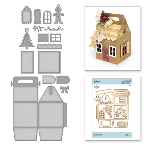 Spellbinders Stanz- u. Prägeform Charming Cottage Box S6-153