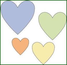 Cuttlebug Stanzform 4-er Set KLEIN Herzen / hearts 37-1213