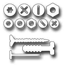 Frantic Stampers Stanzform Schrauben & Nägel / Nuts & Bolts FRA-DIE-10156