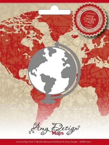 Amy Design Stanzform Weltkugel / Globe ADM10002