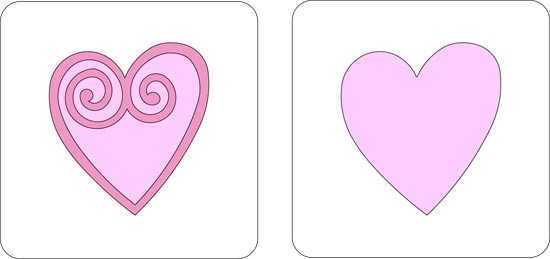 Cuttlebug Stanzform 2-er Herz # 1 / heart # 1 37-1092