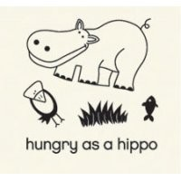 Basic Grey Clear Stamps Hungry as a hippo 2088-8