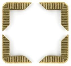 Crop-A-Dile III Buchecken Gold 41409-4