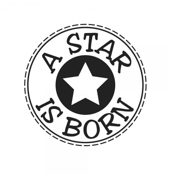 "Rayher Holz-Stempel rund Stern "" A Star is born "" 28-944-000"