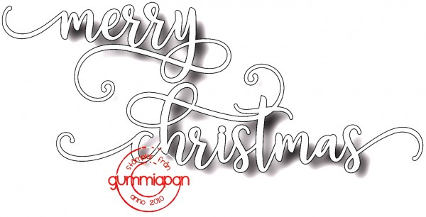 Gummiapan Stanzform Wort ' merry christmas ' D170725