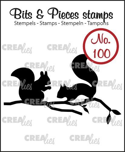 Crealies Clear Stempel Eichhörnchen CLBP100